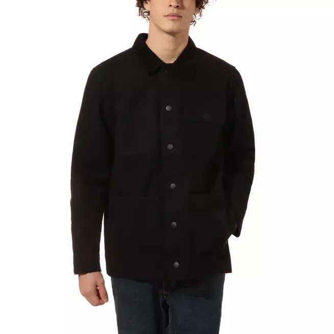 VANS DRILL CHORE COAT - BLACK