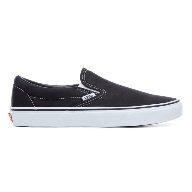 VANS CLASSIC SLIP-ON SHOES BLACK/WHITE