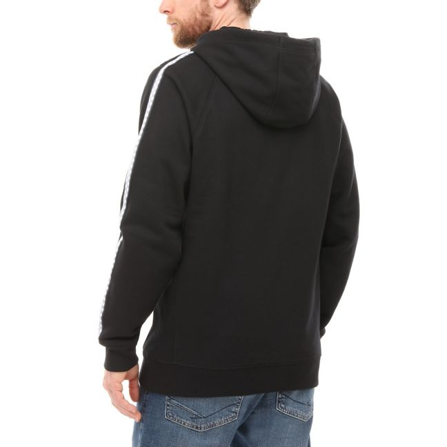VANS TAPED CHECKER HOODIE - BLACK