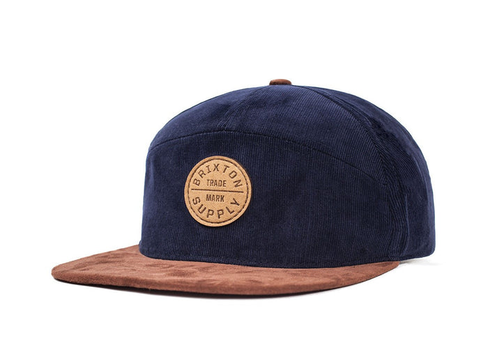 Brixton 'Oath' 7 Panel Cap - Navy / Copper