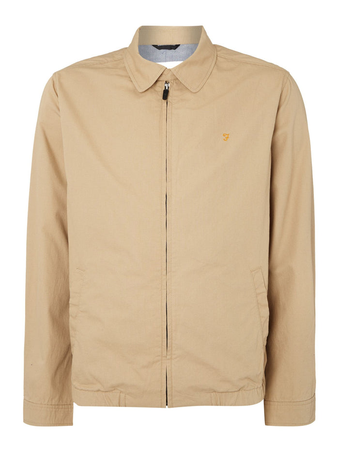 Farah 'Hartley' Zip Harrington Jacket - Beige