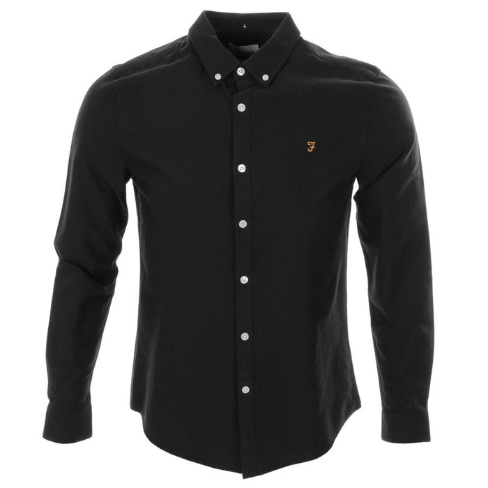 FARAH VINTAGE 'BREWER' SHIRT - BLACK