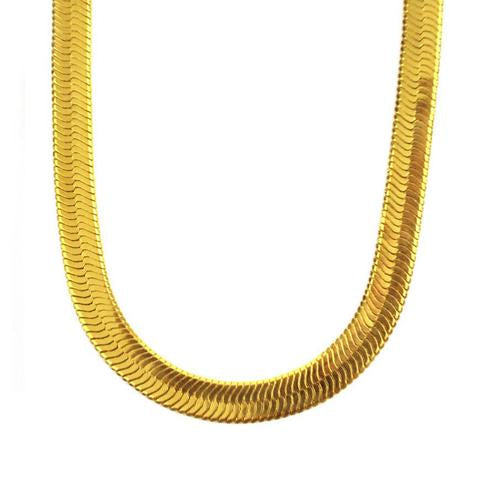 "Midvs co Herringbone Chain 18kt Gold | 24"" - 10mm"
