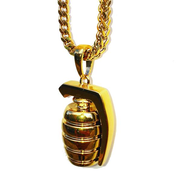 Midvs co The 'Grenade' Micro Pendant - Gold