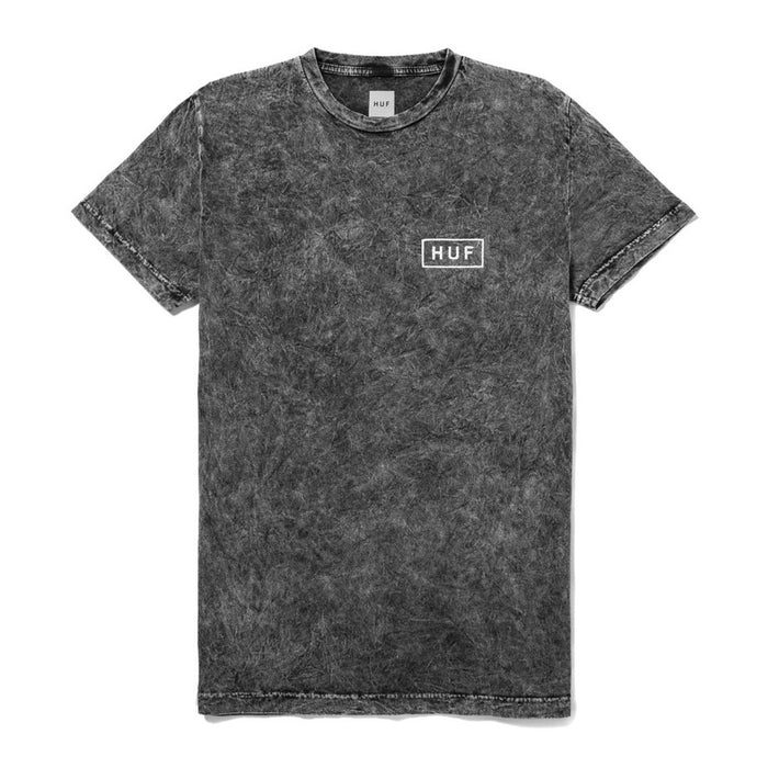 HUF Acid Wash Bar Logo Tee - Black