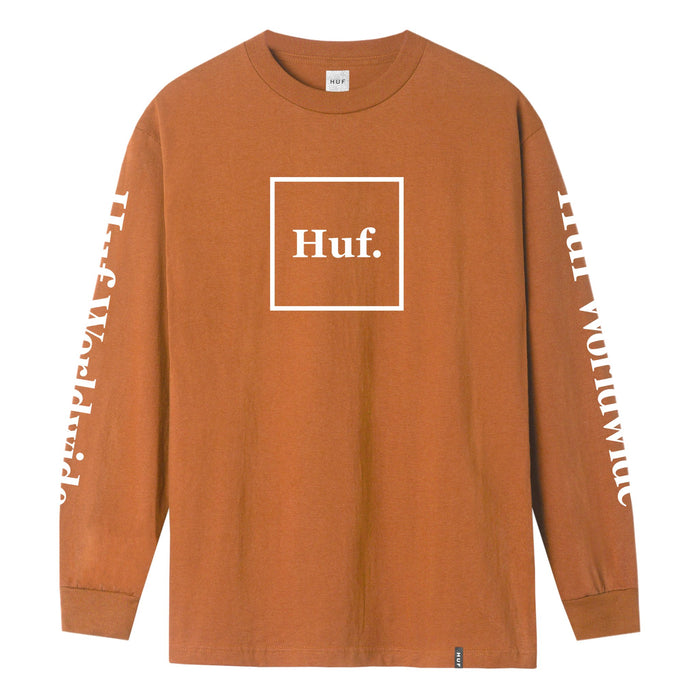 HUF DOMESTIC L/S TEE - RUST
