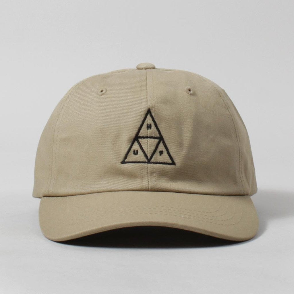 f3850e5a0c407 Huf  Triple Triangle  Curved Brim Hat - Cream - Huf Hats – Frequency
