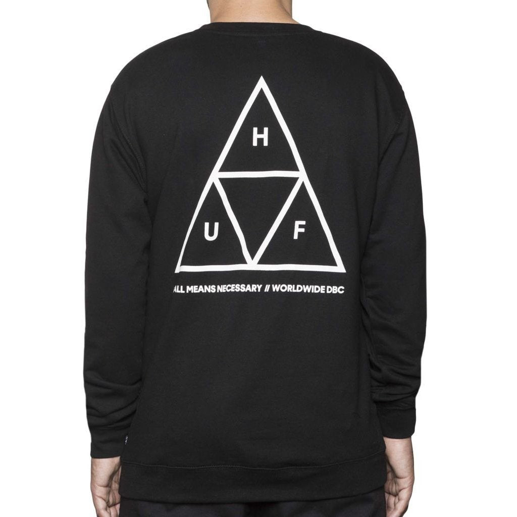 Huf Triple Triangle Crew Sweat - Black