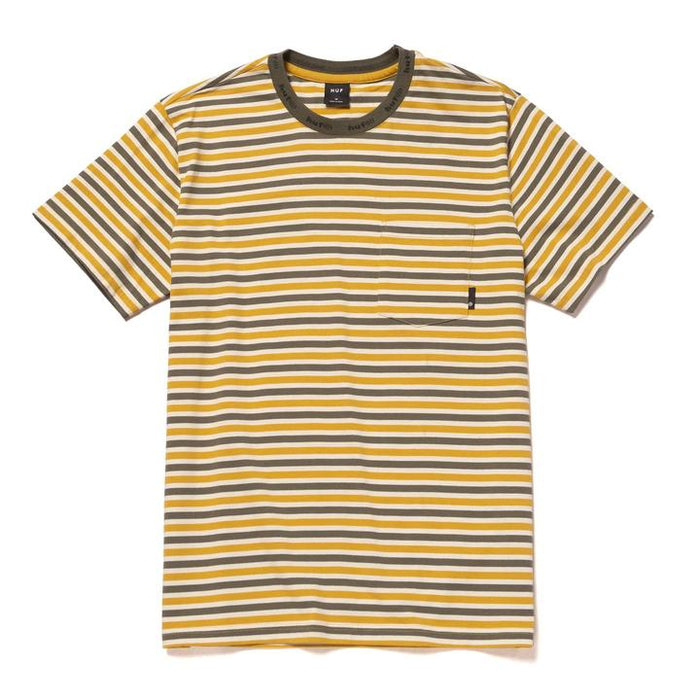 HUF ALEX STRIPE T - YELLOW