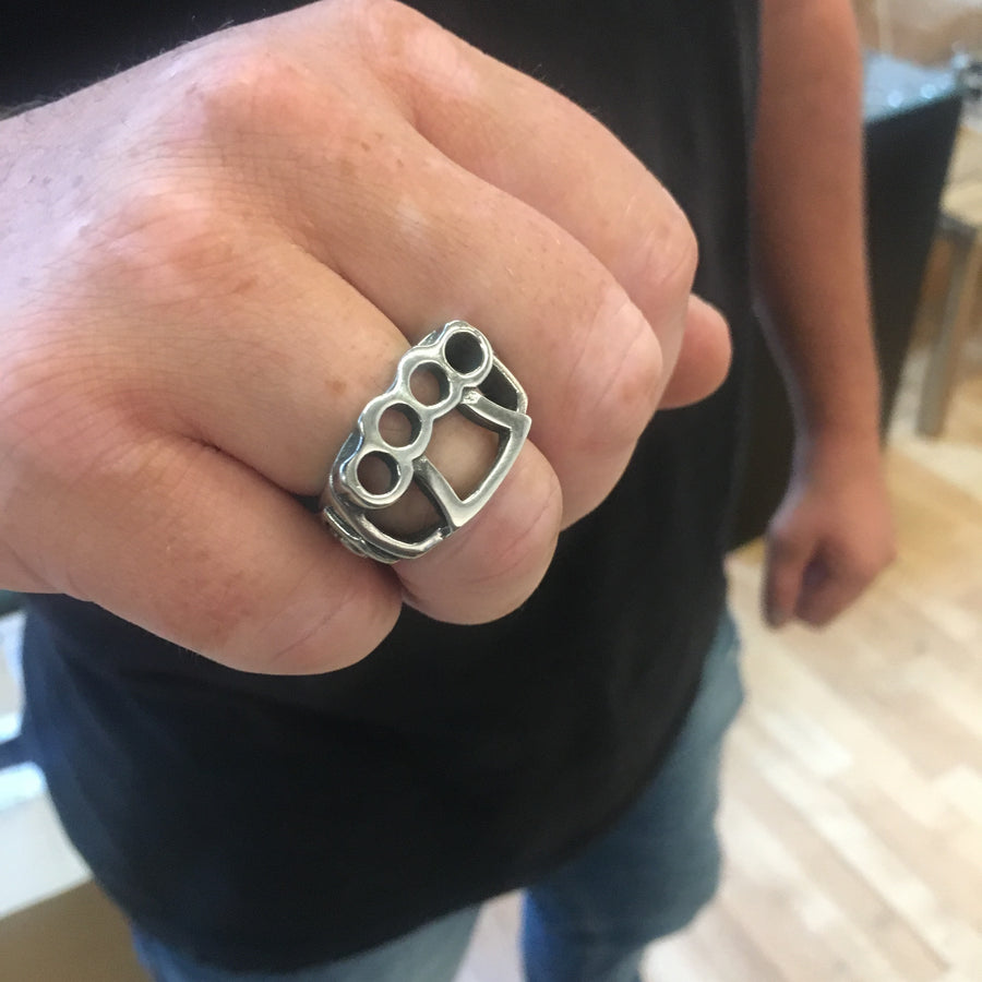 Seek and Destroy Knuckle Up Ring - Silver