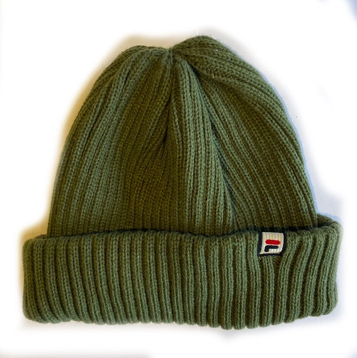 Fila Braker Ribbed Turn Up Beanie - olive