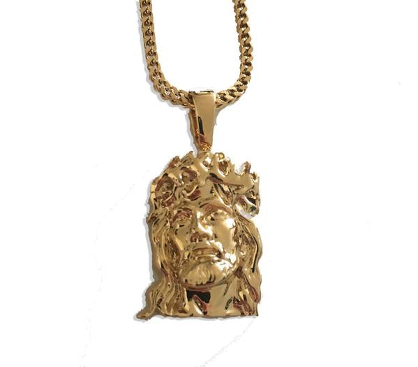 Midvs co The 'Salvation' Jesus piece Micro Pendant - Gold
