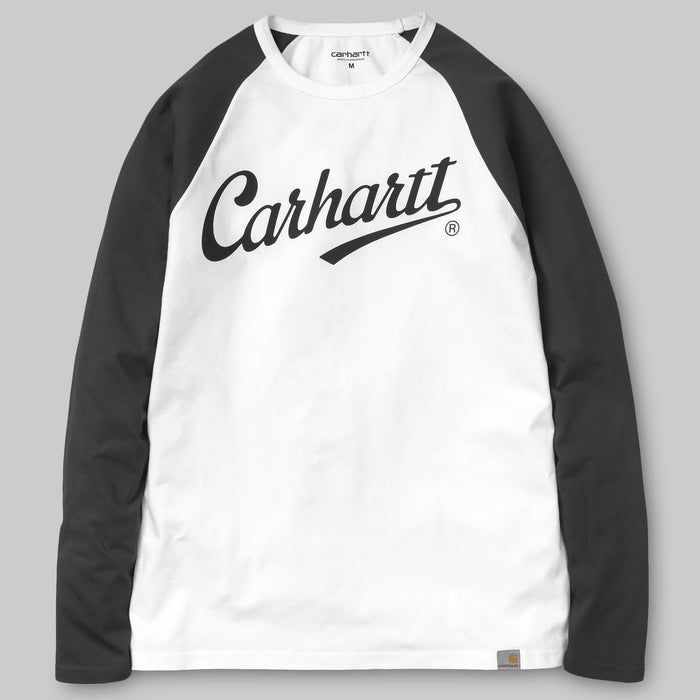 Carhartt L/S League T-Shirt - White/Black