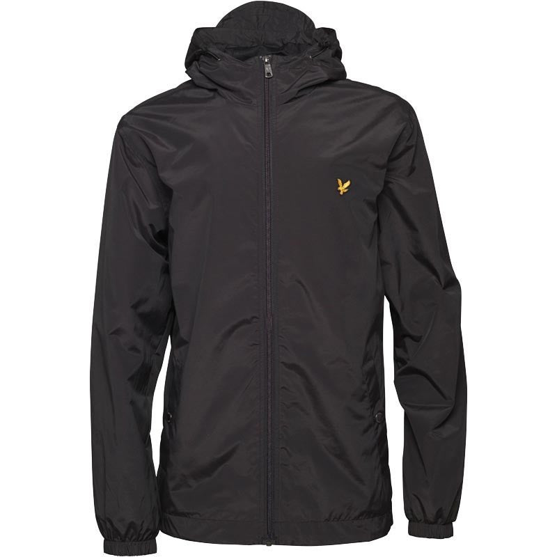 Lyle & Scott Zip Through Hooded Jacket - Black