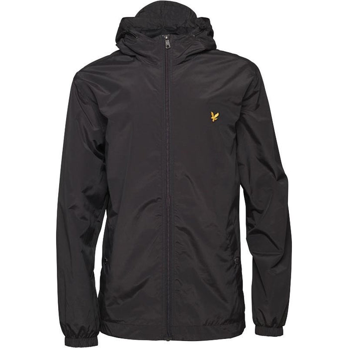 Lyle and Scott Zip Through Hooded Jacket - Black
