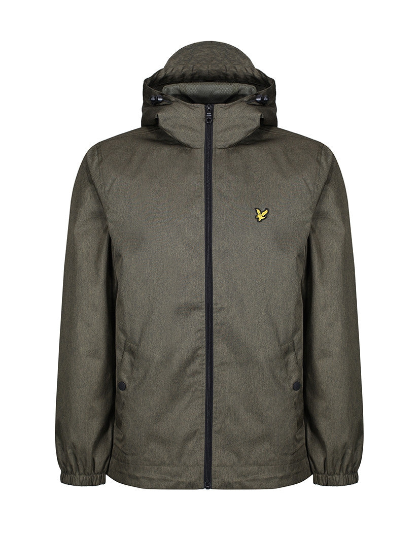 Lyle & Scott Zip Through Hooded Jacket - Olive Marl