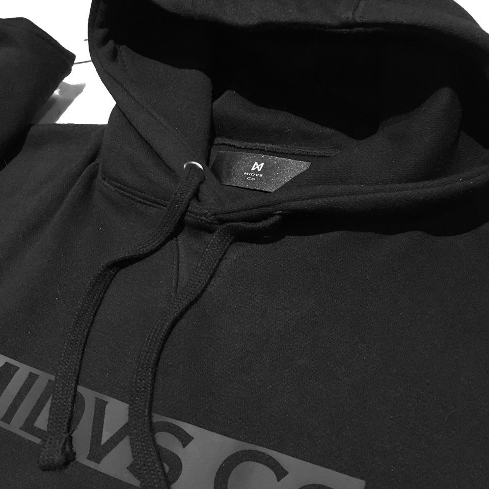 MIDVS CO BOX LOGO HOODY - BLACK / BLACK