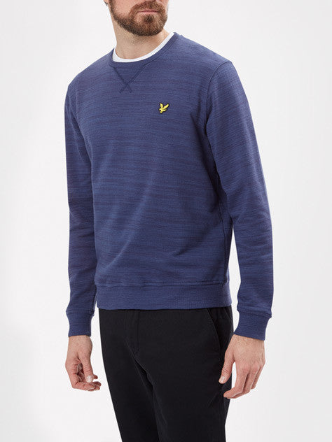 Lyle & Scott 'Space Dye' Crew neck Sweatshirt - Blue