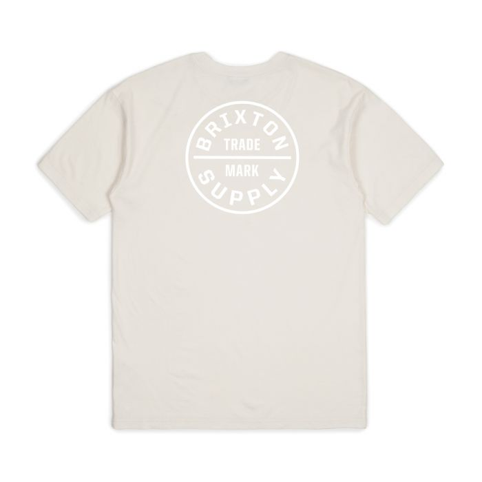 Brixton OATH S/S STANDARD TEE - off white