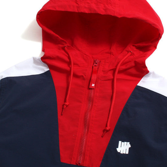 Undefeated 'Ops Streak' anorak jacket - Red/White/Navy
