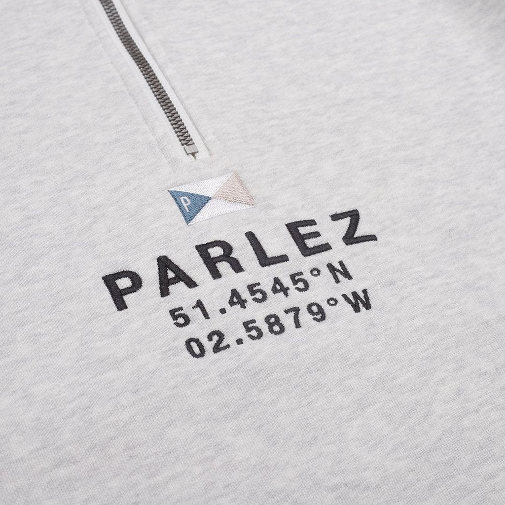 PARLEZ PROSPECT 1/4 ZIP JUMPER HEATHER GREY