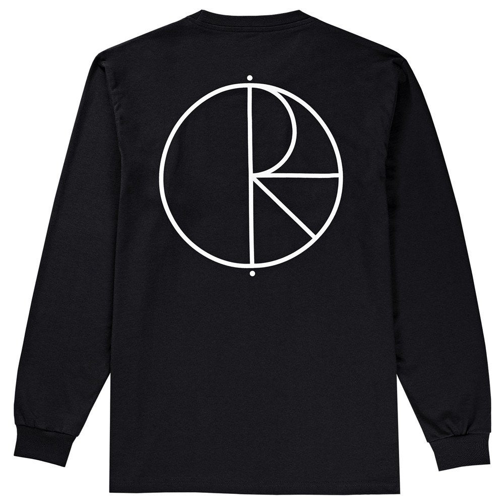 Polar Skate CO. Stroke Logo Long sleeve - Black