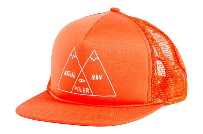 POLER APPAREL VENN TRUCKER MESH CAP - BURNT ORANGE