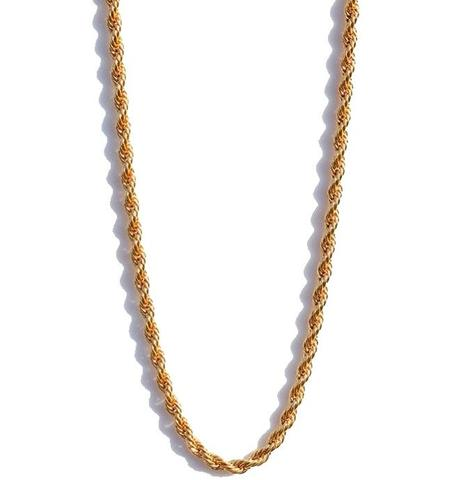 "Midvs co Rope Chain 18kt Gold | 28"" - 2.5mm"