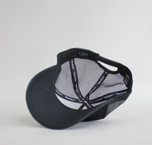 King Apparel London Mesh Trucker Snapback Cap - Black
