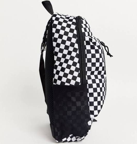 Vans Warp Sling bag in black-white check