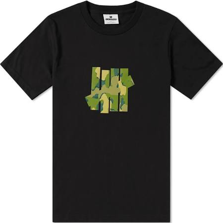 UNDEFEATED CAMO 5 STRIKE TEE - BLACK
