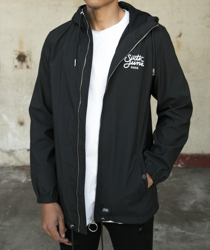 Sixth June Hooded Jacket - Black