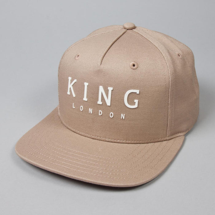 Staple Pinch Panel Snapback Cap - Camel