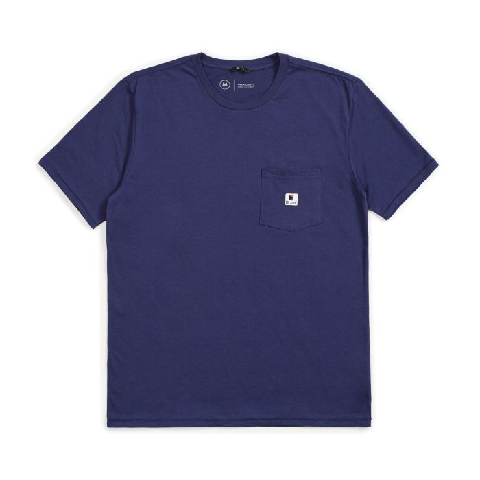 Brixton STOWELL S/S POCKET - Blue