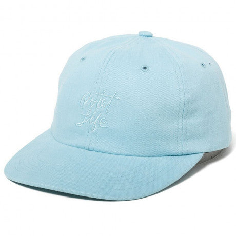 The Quiet Life 'Cursive' Curved Visor Polo Hat - Blue