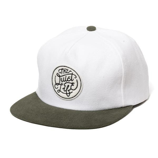 The Quiet Life 'Innings' Snapback - White / Olive