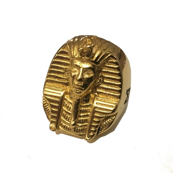 Midvs co The 'Rulers' Pharoah Head Ring - 18kt Gold