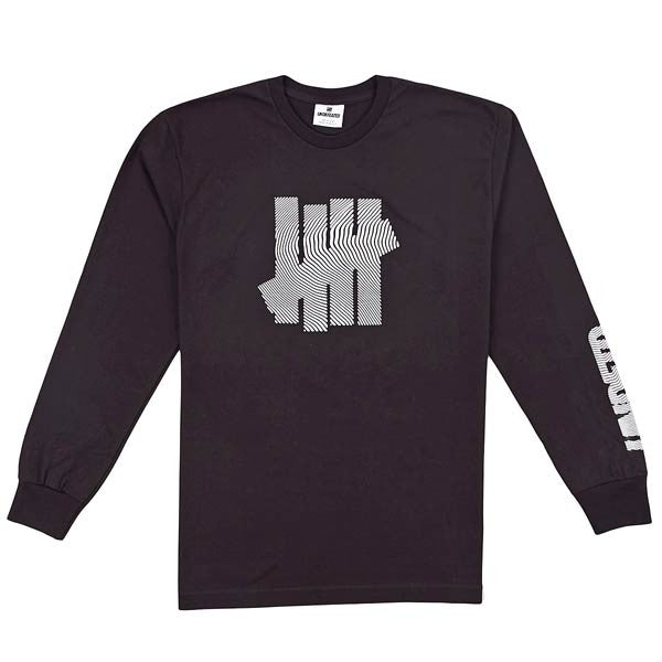 Undefeated 'Topo Strike' long sleeve polo T-shirt - Black