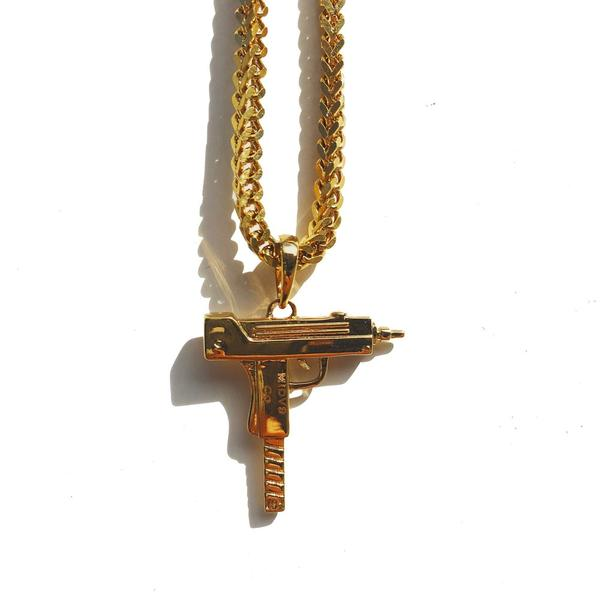 Midvs co The 'Uzi' Micro Pendant - Gold