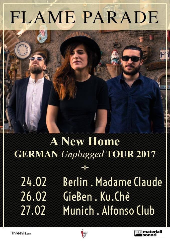 Tour acustico di FLAME PARADE in Germania