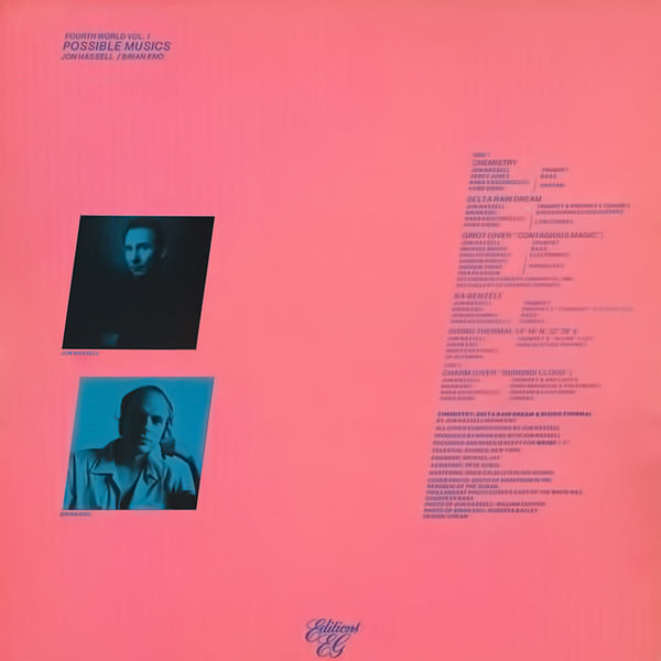 JON HASSELL / BRIAN ENO – Fourth World Vol. 1 - Possible Musics . LP