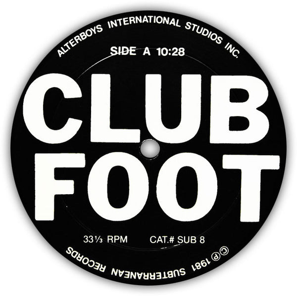 VARIOUS – Club Foot . LP . Label 1