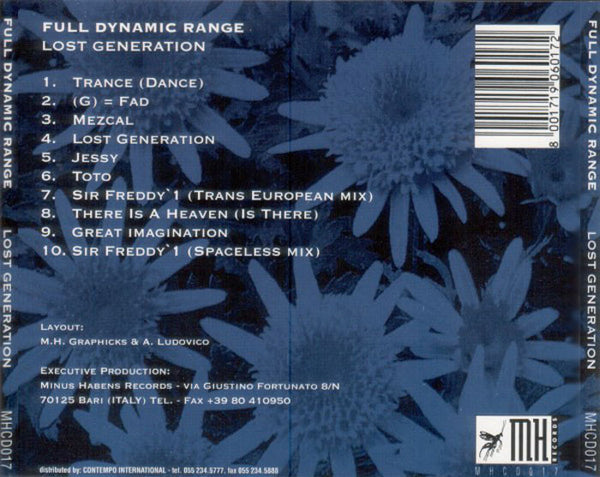 FULL DYNAMIC RANGE - Lost Generation . CD