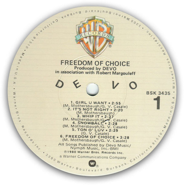 DEVO – Freedom Of Choice - LP