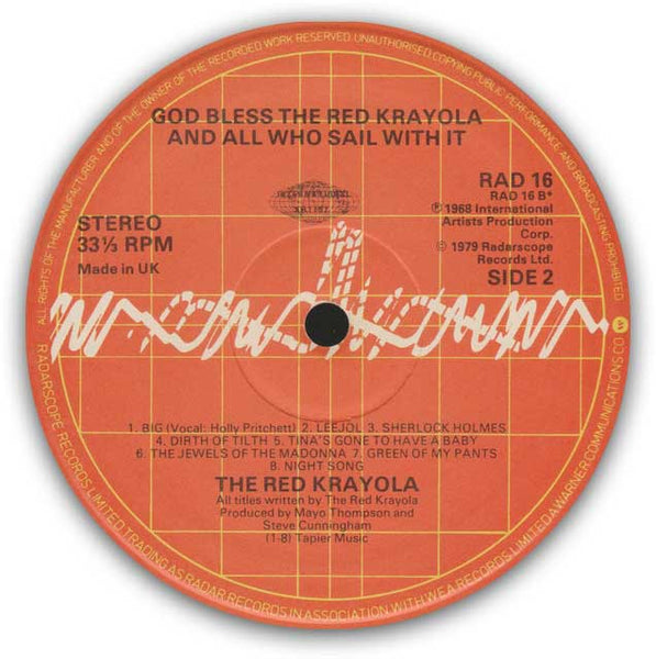 RED KRAYOLA – God Bless The Red Krayola And All Who Sail With It - LP