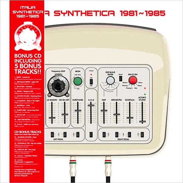 VARIOUS - Italia Synthetica 1981-1985 . LP+CD