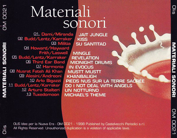 VARIOUS - Materiali Sonori . CD