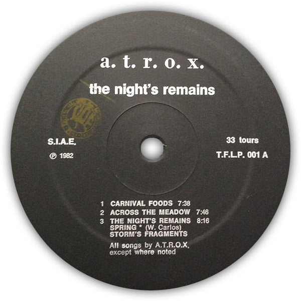 A.T.R.O.X. ‎– The Night's Remains . LP . Label A