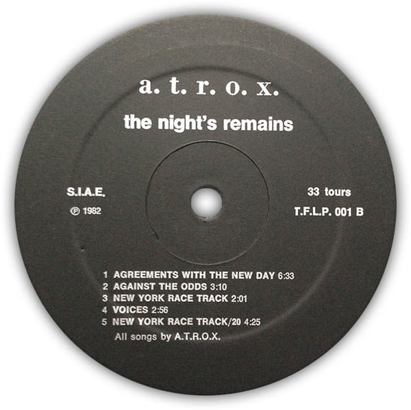 A.T.R.O.X. ‎– The Night's Remains . LP . Label B