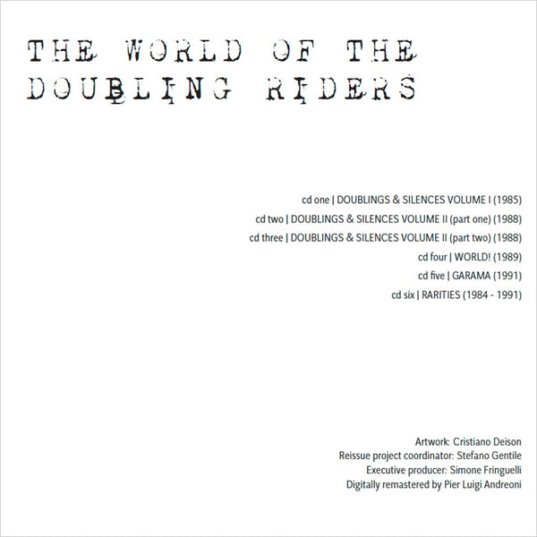 THE DOUBLING RIDERS - The World Of The Doubling Riders . 6CD